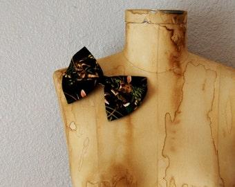 vintage 1980s BUNNY print hair bow