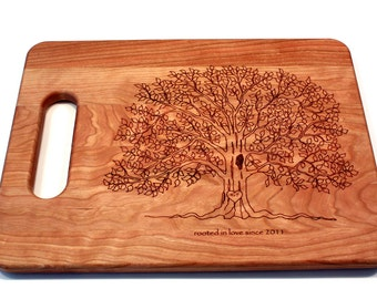 Gifts for Her, Initial Tree, Wedding Gifts, Personalized Gift, Cutting Board, Christmas gift, Bridal Shower Gifts, Anniversary Gifts