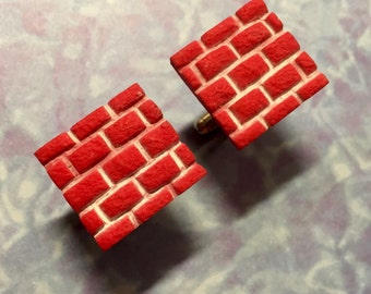 CUFFLINKS Brick wall cuff links