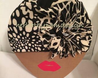 Animal Print Knit Hat