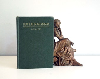 New Latin Grammar 1918, Vintage Textbook, 1950s Language Book, Charles Bennett, Green Hardback Book, Classic Reference Book