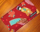 Reserved for MJ Kimono Girls Checkbook Cover and eyeglass pouch