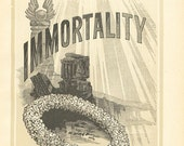 Antique Religious Print Immortality 1883 Steel Engraving Vintage Christian Book Plate