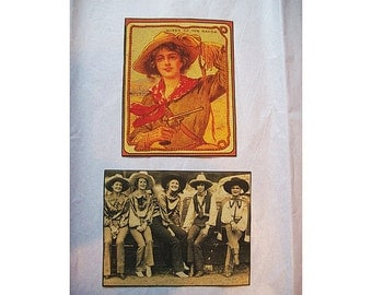 cowgirl patch set retro vintage rockabilly pin up girl kitsch sew on patch