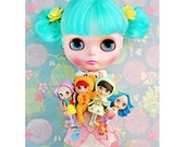 blythe doll dolly collector print 5 x 7 DOLLY FEVER