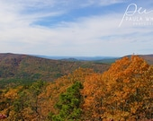 Fall landscape art, autumn wall art, fall print, autumn photo, rustic landscape, fall landscape art, Oklahoma art, Beaver Bend OKlahoma