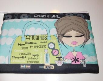 Makeup Bag  6x9 -Aquarius Gal