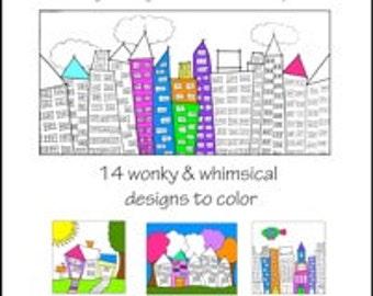 Color it! buildings, neighborhoods & skylines coloring book