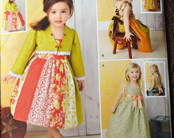 ON SALE Sewing Pattern Simplicity 1331 Toddler Girls' Dresses size 1/2-4  Uncut Complete FF