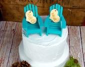Adirondack Chair Cake Topper, Adirondack Wedding, Adirondack Wedding Cake Topper