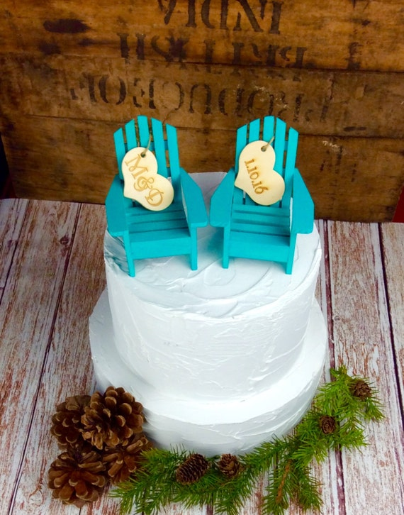 beach themed wedding cakes images items similar to adirondack chair cake topper adirondack 11148