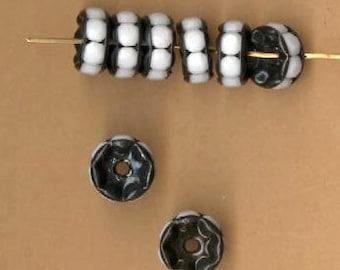 rhinestone rondelles 8mm black enamel chalk white rhinestone my exclusive
