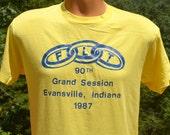 80s vintage t-shirt ODD FELLOWS friendship love trust flt indiana tee Medium rings
