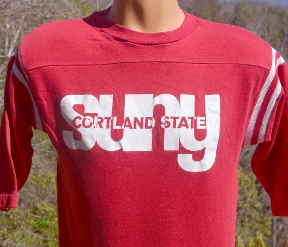 Vintage 70s t shirt suny cortland state university new york for T shirt printing nyc same day