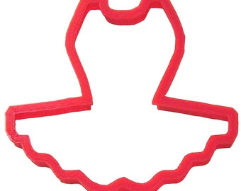 Ballerina Tutu Cookie Cutter 3.5 in  - for cookie dough, fondant, craft clay, bread, candy, brownies, soft fruit, and marshmallows  (PC0247)