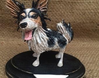 Custom Folk Art Dog on wooden base based on your pets photos