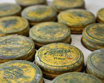 Vintage Vernor's Ginger Ale Syrup Lids. 20 Pack