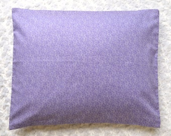The Perfect Toddler Pillow ... Purple Tiny Ditsy Floral on Smooth Cotton ... Original Design by Sew Cinnamon