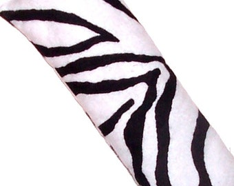 Eye Pillow, Eye Mask, Hot Cold Microwave Pack, Black White FLANNEL - Flaxseed Lavender - READY to SHIP