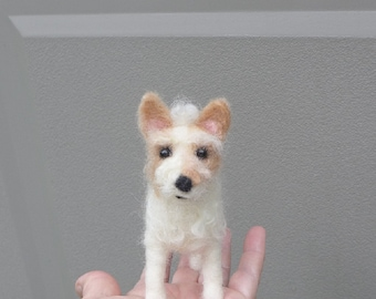 Felt Miniature of your Pet / Custom Pet Portrait / Needle Felted Dog / handmade by Gourmet Felted /  Gift Idea Pets