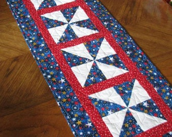 Patriotic Stars Table Runner