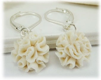 Carnation Lightweight Drop Earrings or Dangle Earrings Style