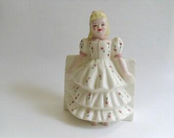Vintage Patsy Girl Planter,  Florence Ceramics, Pasadena California, Mid Century Pottery