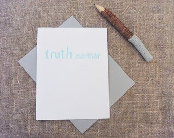 Letterpress Greeting Card - Baby + New Parent Card - TRUTHnote - TRN-008