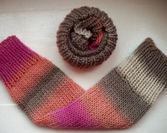 Chunky warm leg warmers wool warm pink, apricot, ivory, grey