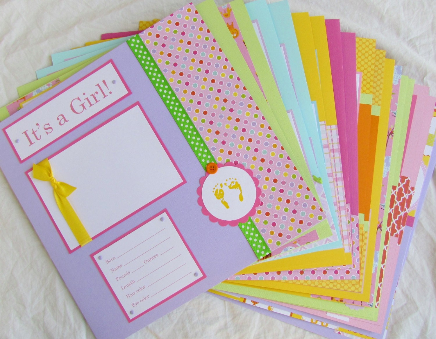 Premade 12x12 Scrapbook Pages 20 BABY GIRL Layouts For 12x12