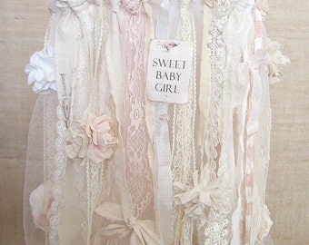 Baby Mobile, Baby Girl Mobile, Shabby Chic Nursery Decor, Vintage Baby Girl, Shabby Chic Baby Nursery Decor, Vintage Baby Girl Nursery Decor