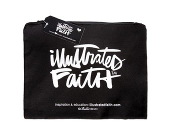 Illustrated Faith Get It Together Cotton Zippered Pouch