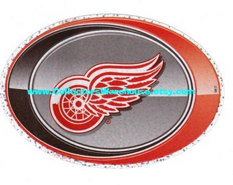 Detroit Red Wings oval sticker Sandylion Hockey NHL decal