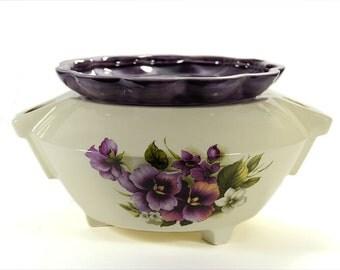 Extra Large African Violet Self Watering Pot Pansies