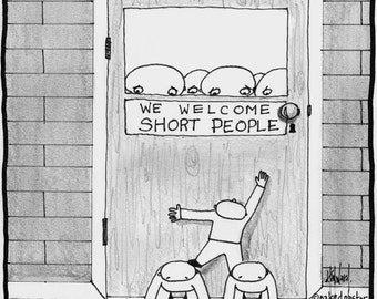 SHORT PEOPLE print