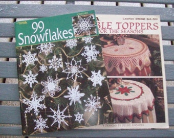 Leisure Arts,Crafts,Supplies,Patterns,Snowflakes,Table Toppers,Crochet,Thread,Fiber Arts
