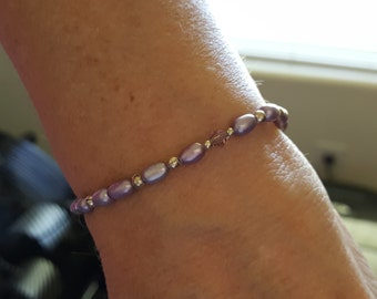 Dainty Freshwater Pearl Wrap Bracelet