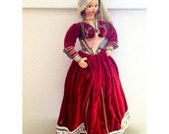 "Vintage Spanish Gypsy Doll 13"" Unsigned"