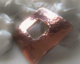 Copper Bracelet Connector Copper Square Pendant Donut Item No. 9170SO