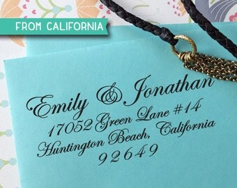 CUSTOM ADDRESS STAMP - Self inking Stamp, Rubber Stamp, Return Address stamp, Personalized Stamp, rsvp address stamp, Wedding Stamp 35