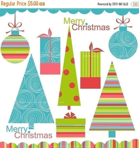 CLIP ART - Modern Christmas Elements
