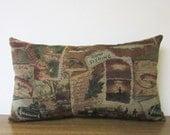 Lumbar Pillow Fish Gone Fishing Fishermen Cabin Lodge Decor Woodlands Tapestry