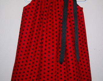 Ladybug Dress Pillowcase Dress Miraculous Ladybug Dress red and black Dress Ladybug Birthday Ladybug Costume baby dress toddler dress
