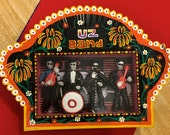 Rock Star U2 Band Day of the Dead Handmade Mexican Nicho Shrine, Shadow Box, Dia de Los Muertos Diarama Altar