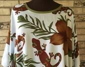 Plus Size Lightweight Rayon Gecko Tunic
