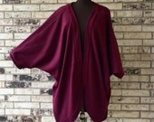 Plus Size Roomy Fleece Jacket/Shrug - ANY COLOR