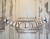 Baby Banner, Deer Woodland nursery, woodland theme, rustic banner, Baby Shower Decor, Rustic baby shower decor, bridal shower,personalized