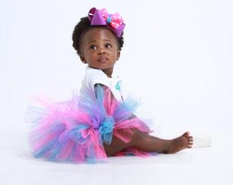 Baby Girl 1st Birthday Tutu Outfit - Birdy Birthday - First Birthday Outfit - Girl Cake Smash - Personalized