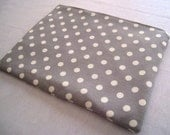 """Polka Dots on Soft Gray - for Macbook 13"""" Air or Macbook 13 Inch Pro - Laptop Sleeve - Laptop Cover - Case - Bag - Padded and Zipper Closure"""