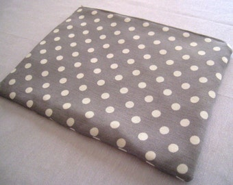 "Polka Dots on Soft Gray - for Macbook 13"" Air or Macbook 13 Inch Pro - Laptop Sleeve - Laptop Cover, Case, Bag - Padded and Zipper Closure"